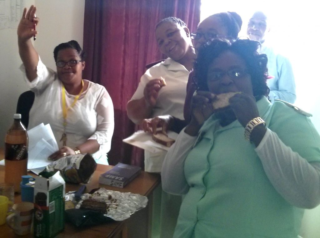 A goodbye party at one of our clinics